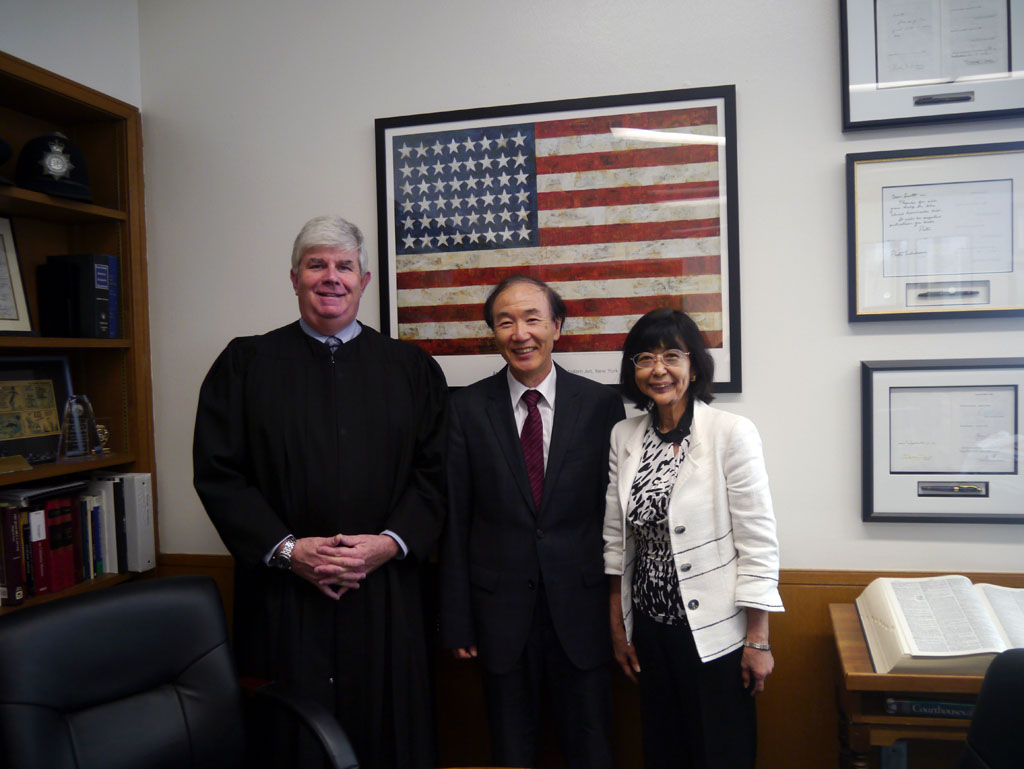 With the Superior Court judge S.M. Gordon, Los Angeles,in 2012.